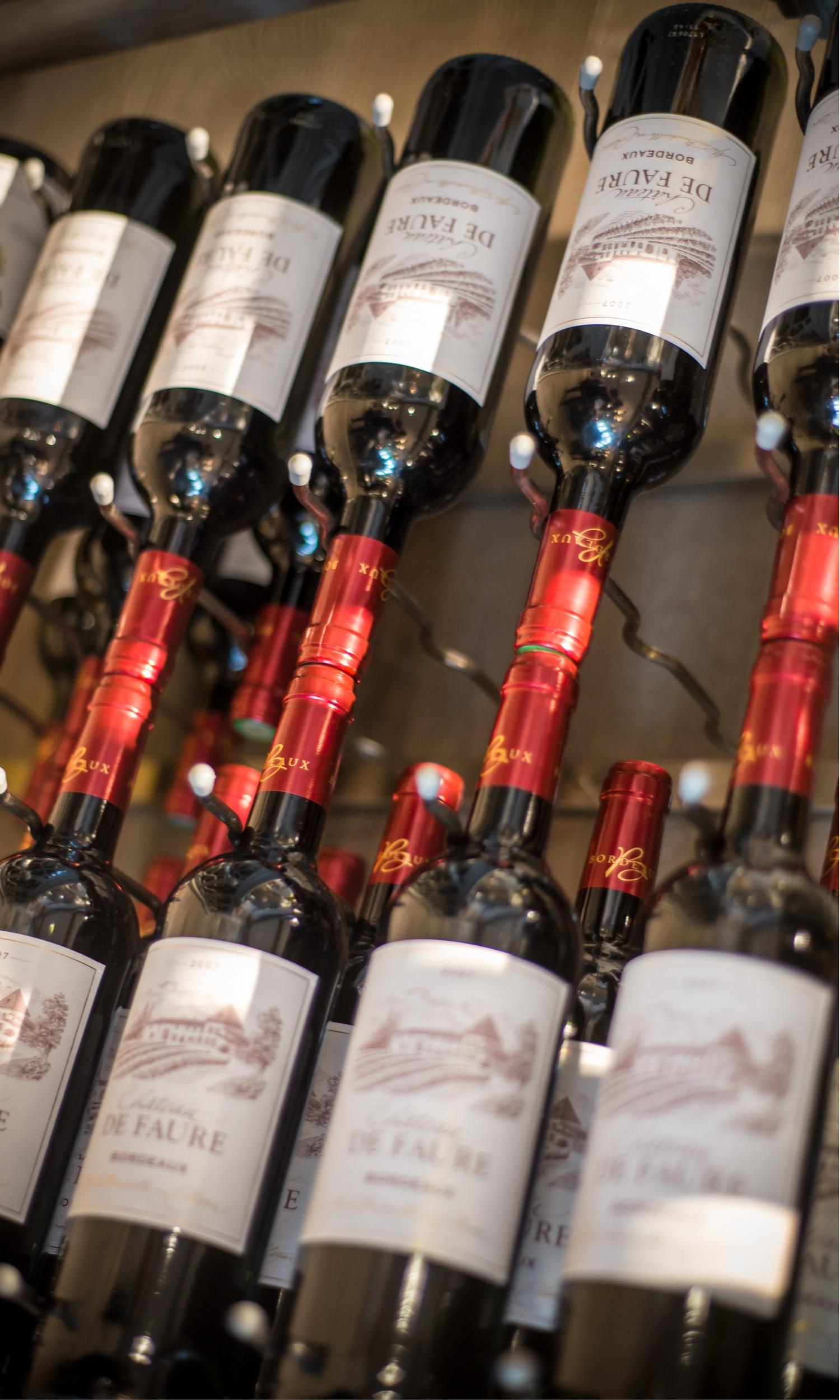Courchevel Luxury rental variety of wines