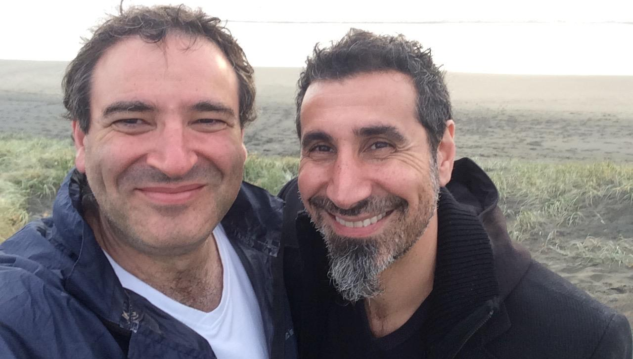 Photo taken just after we completed recording Serj's searing performance for No Man's Land