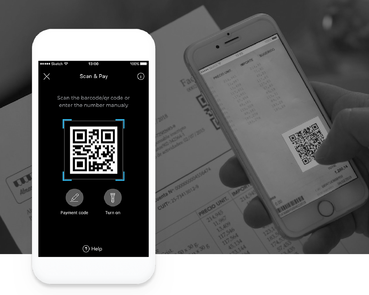 QR Code Technology - Businesses accept payments by displaying a QR code identifying the business, scanned by customers on the app- Lightweight, feature-rich image- Transaction fields are prepopulated in QR schema or through manual input- QR image can be private: decryption via RedCloud app only
