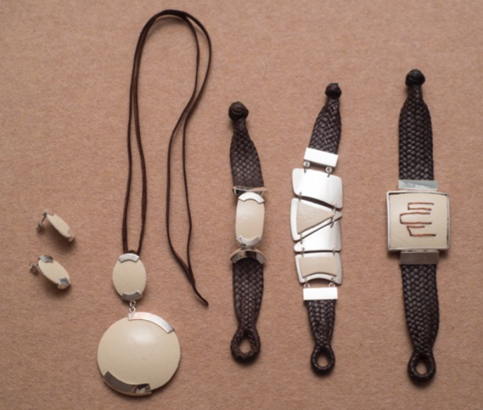 Calcium and Silver Collection, 2015  Jewelry made with silver and shell  Variable measures