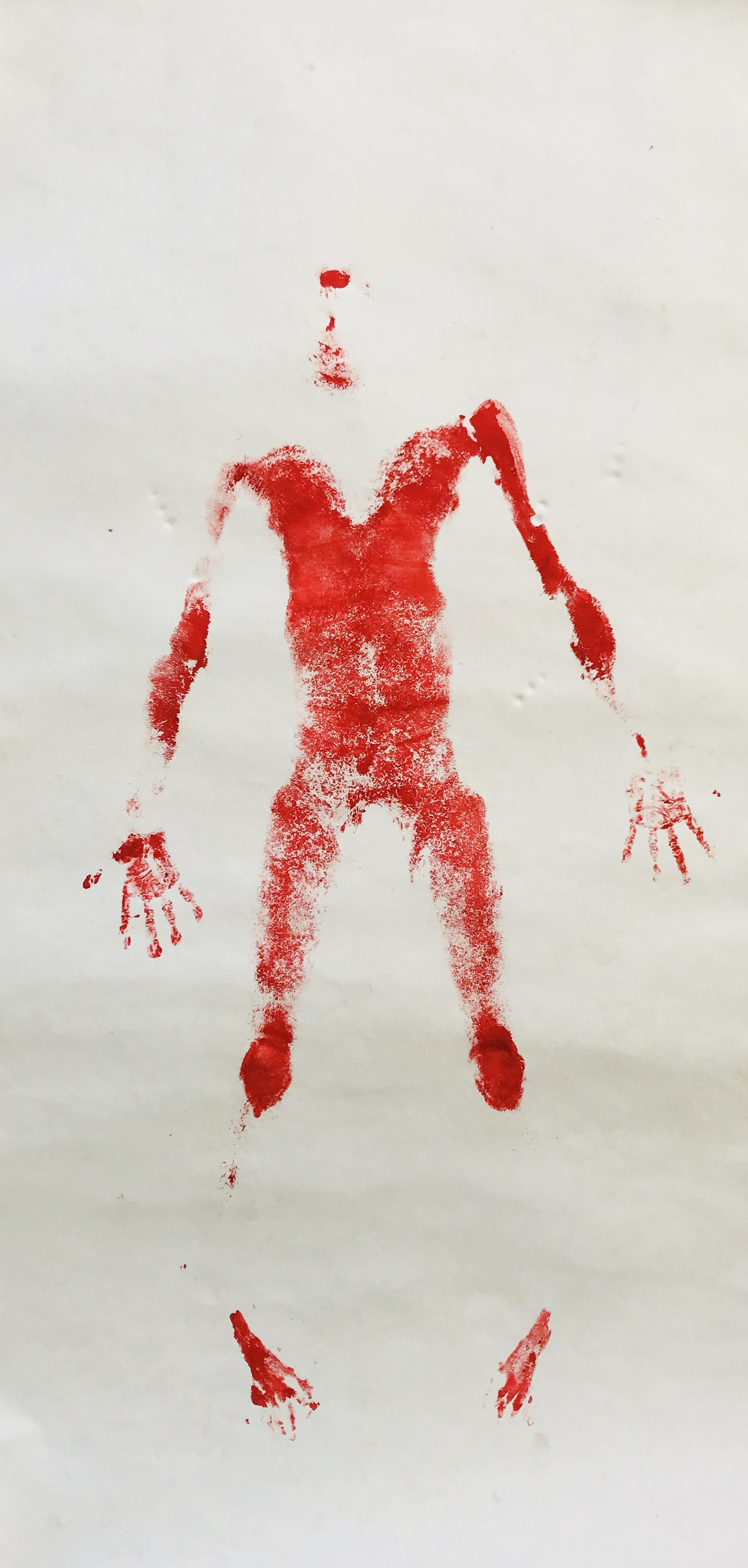 2017  Estampado corporal con pintura acrílica sobre papel amate  244 x 122 cm