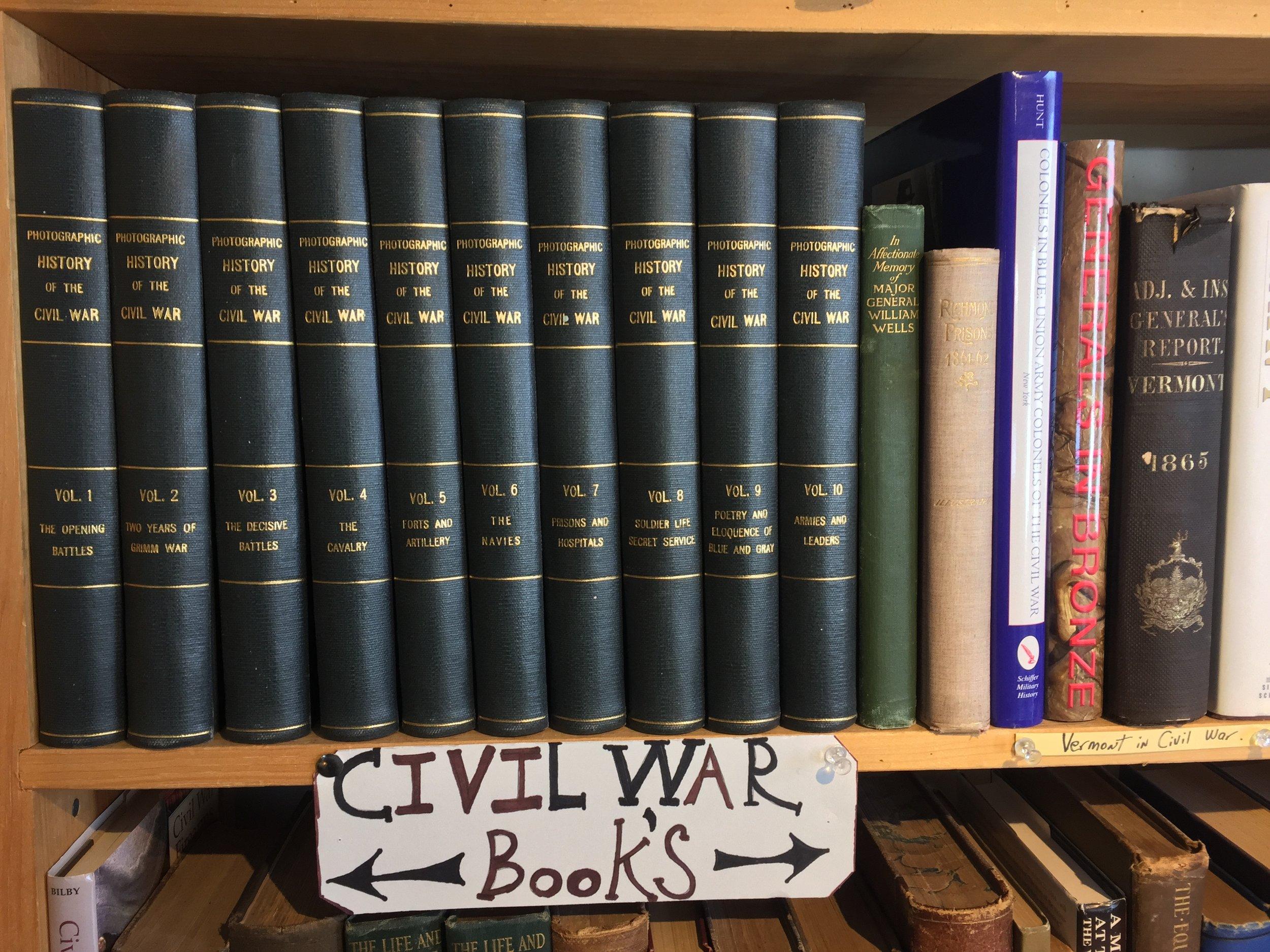Civil War books.JPG