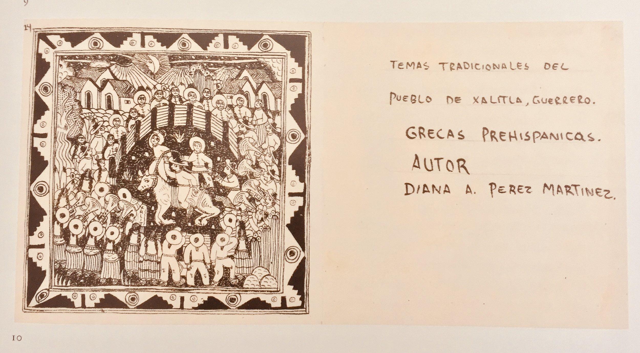 "Diana Perez Martinez ""Nahua Codice"" | Mexico | Circa 2016  C. Schimmel Collection Catalog | Published by Caroline F. Schimmel,New York, 2017"