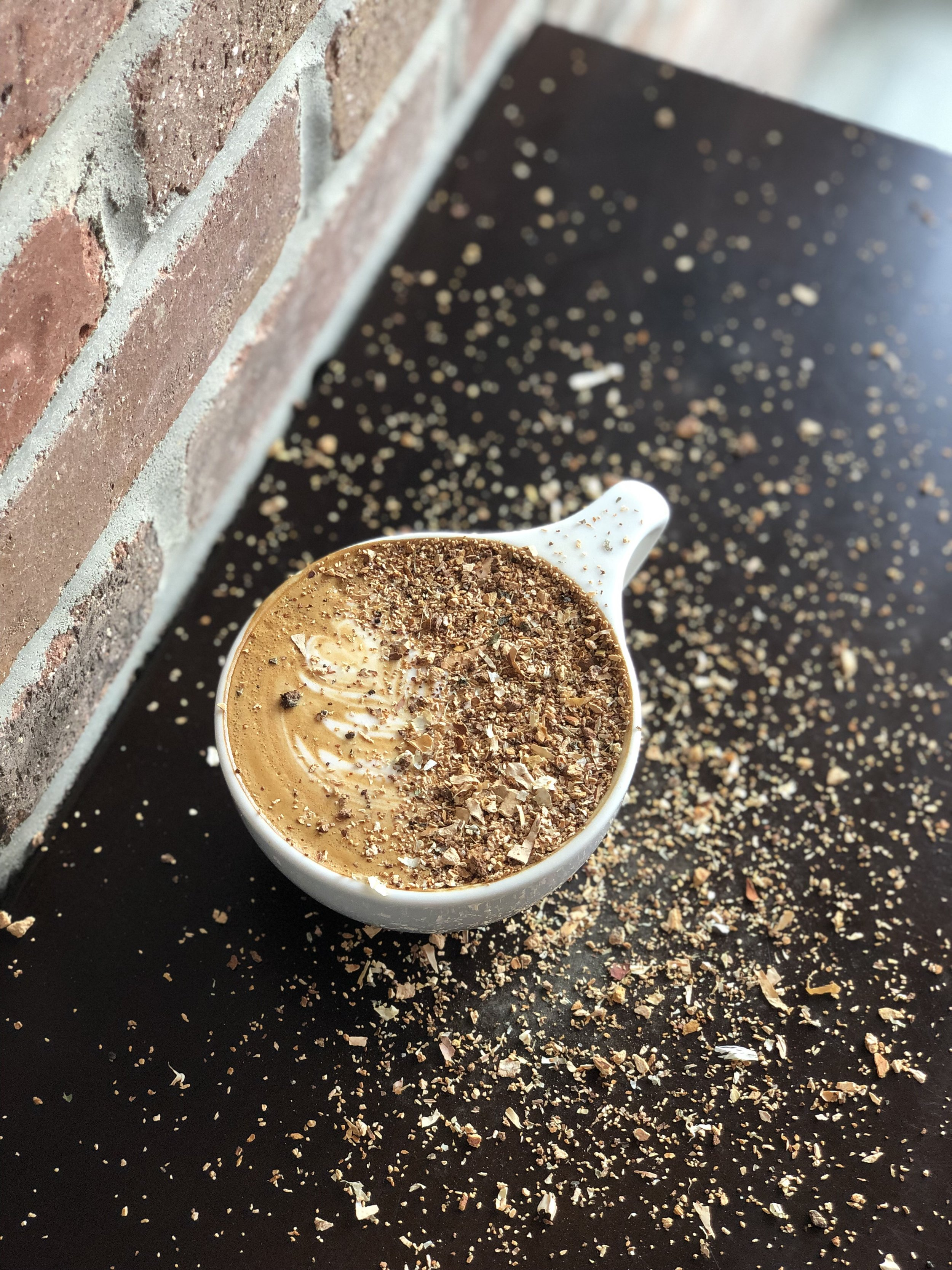 Birch bark sage latte -