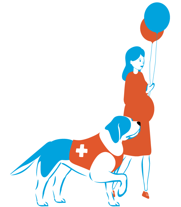 rexpay-mascot-with-pregnant-woman.png