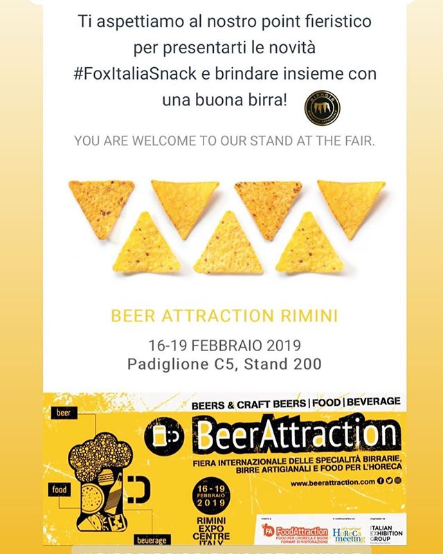 Vi aspettiamo a @beerattraction, ospiti degli amici @foxitalia_snack allo stand 200 pad C5! 🍻 • •  #birroir #birrificiobirroir #beerporn #instabeer #beeroftheday #instagood #photooftheday #tbt #followme #follow  #picoftheday #like4like #tagsforlikes #instadaily #igers #instalike #likeforlike #food #instamood #follow4follow #foxitaliasnack #beerattraction
