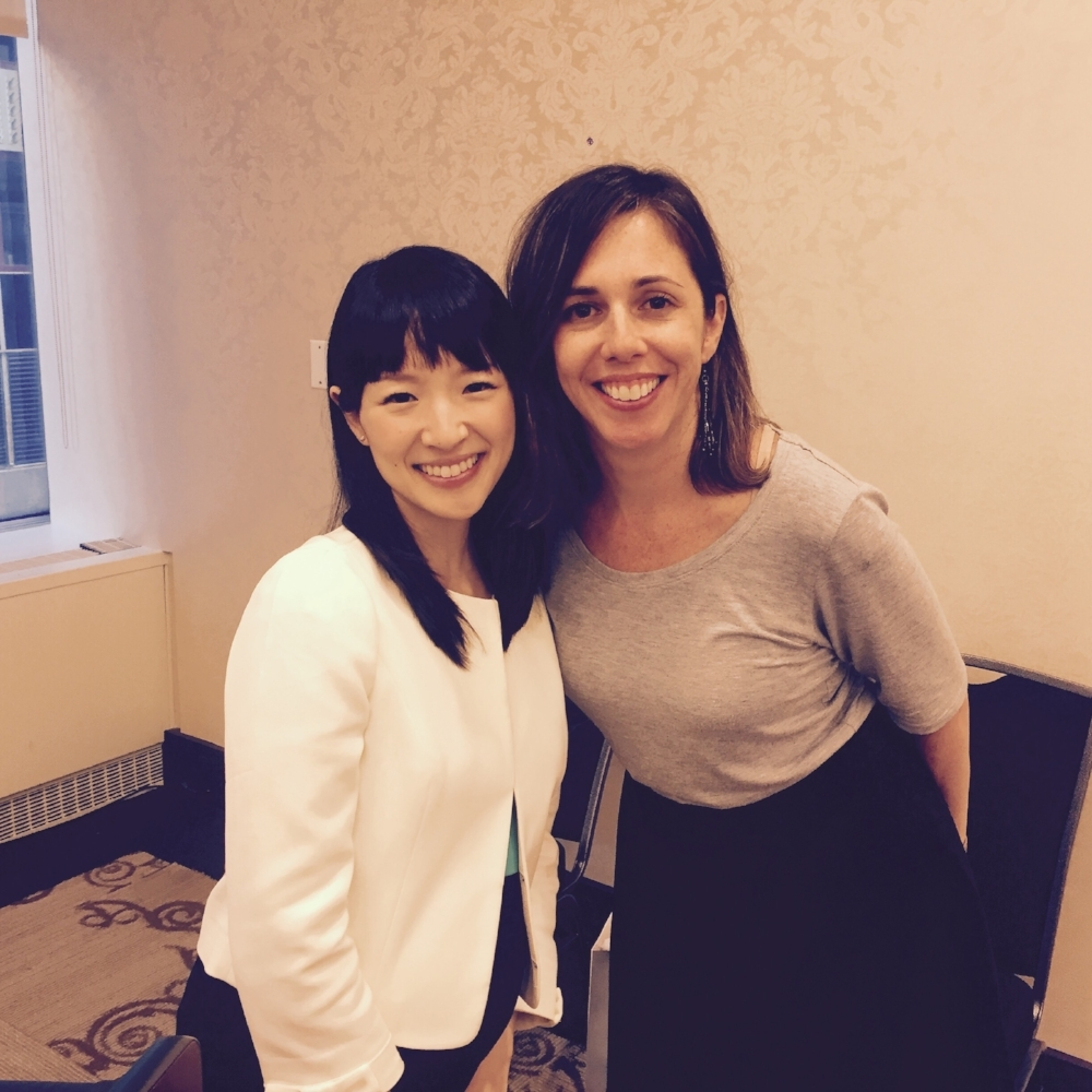 Christina with Marie Kondo at the first ever KonMari Consultant Training -