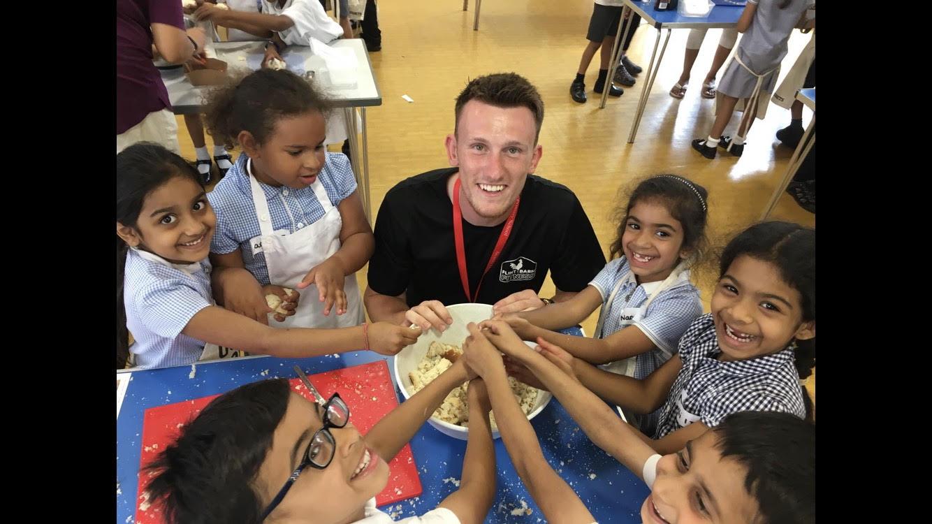 Jack teaching a class for Cook school club.