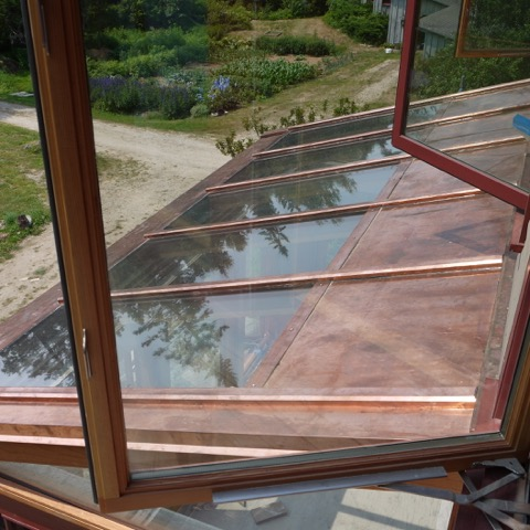Copper Clad Sunroom Roof