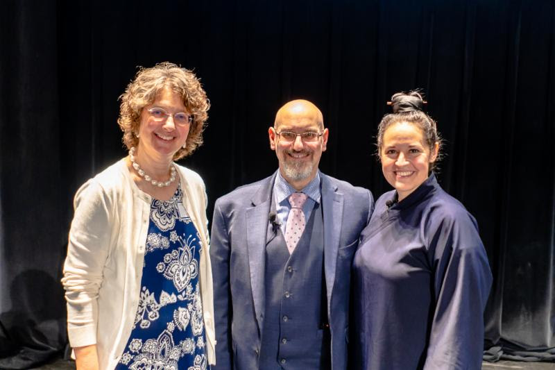 Dr. Rose Grace is pictured with Dr. David Kaplan and Stephanie Mayer-Sattin.