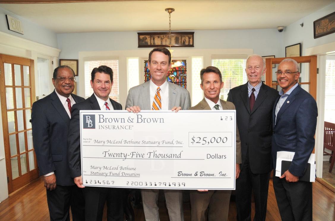 Pictured: B-CU Trustee Pete Gamble, Robert W. Lloyd, J. Powell Brown, Chris Fulton, J. Hyatt Brown, B-CU President Dr. Brent Chrite
