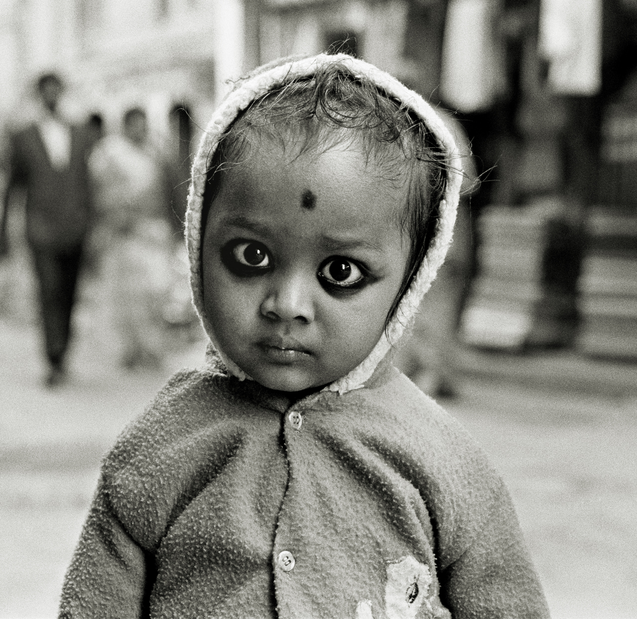 Child with Charcoal Eyes, Kathmandu, Nepal 1997