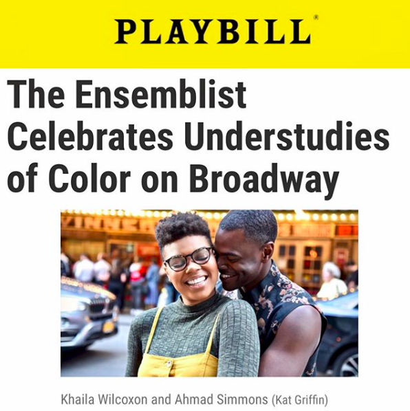 Featured in Playbill - Click the image for the full article/gallery