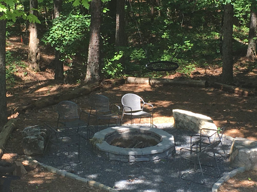 Fire pit at retreat