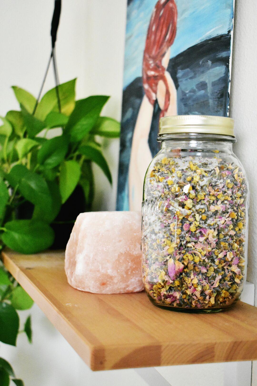 The semi-minimalist bath herbs.jpg