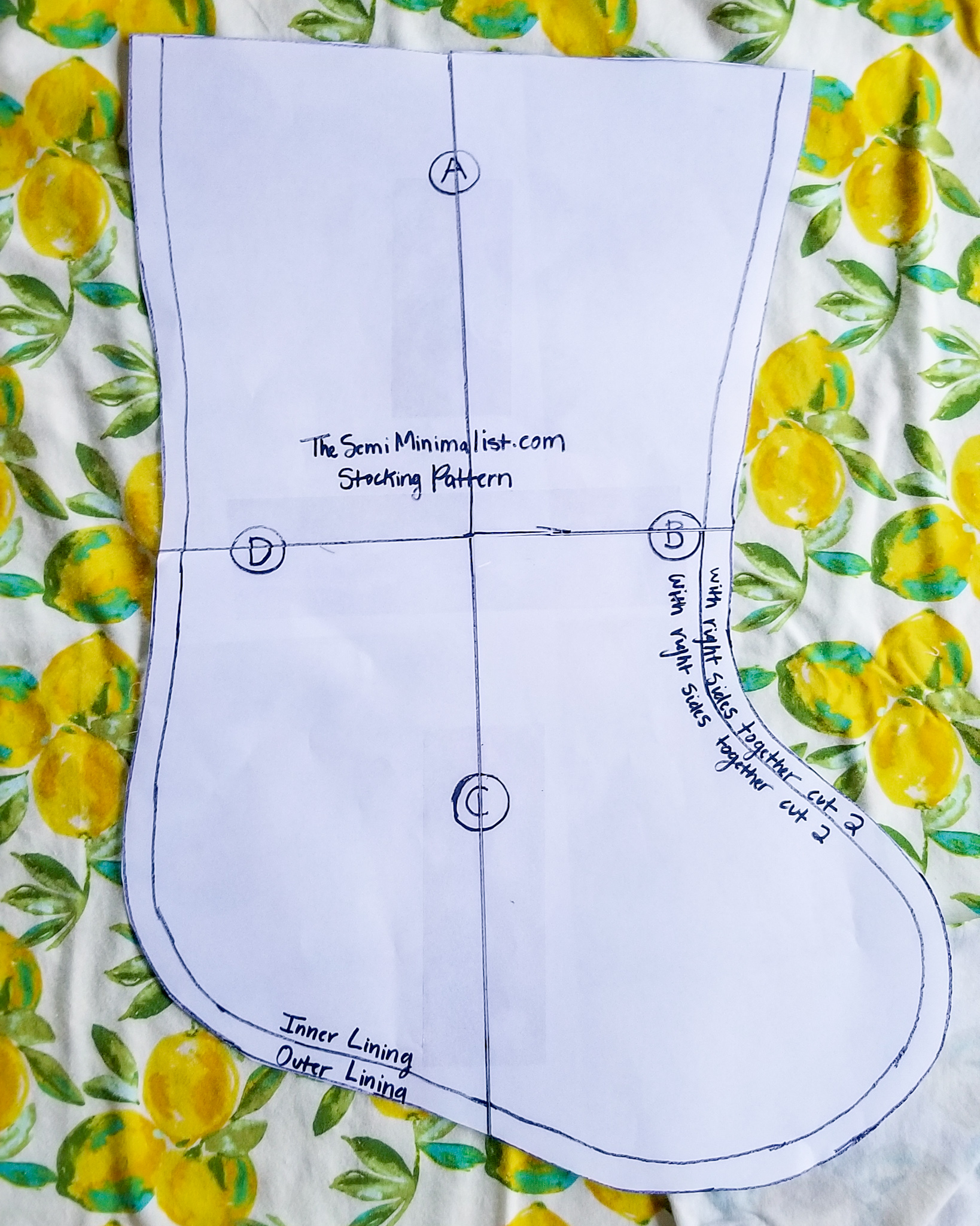 The Semi-Minimalist DIY Christmas Stocking Lemon Knit Fabric Art Gallery.jpeg