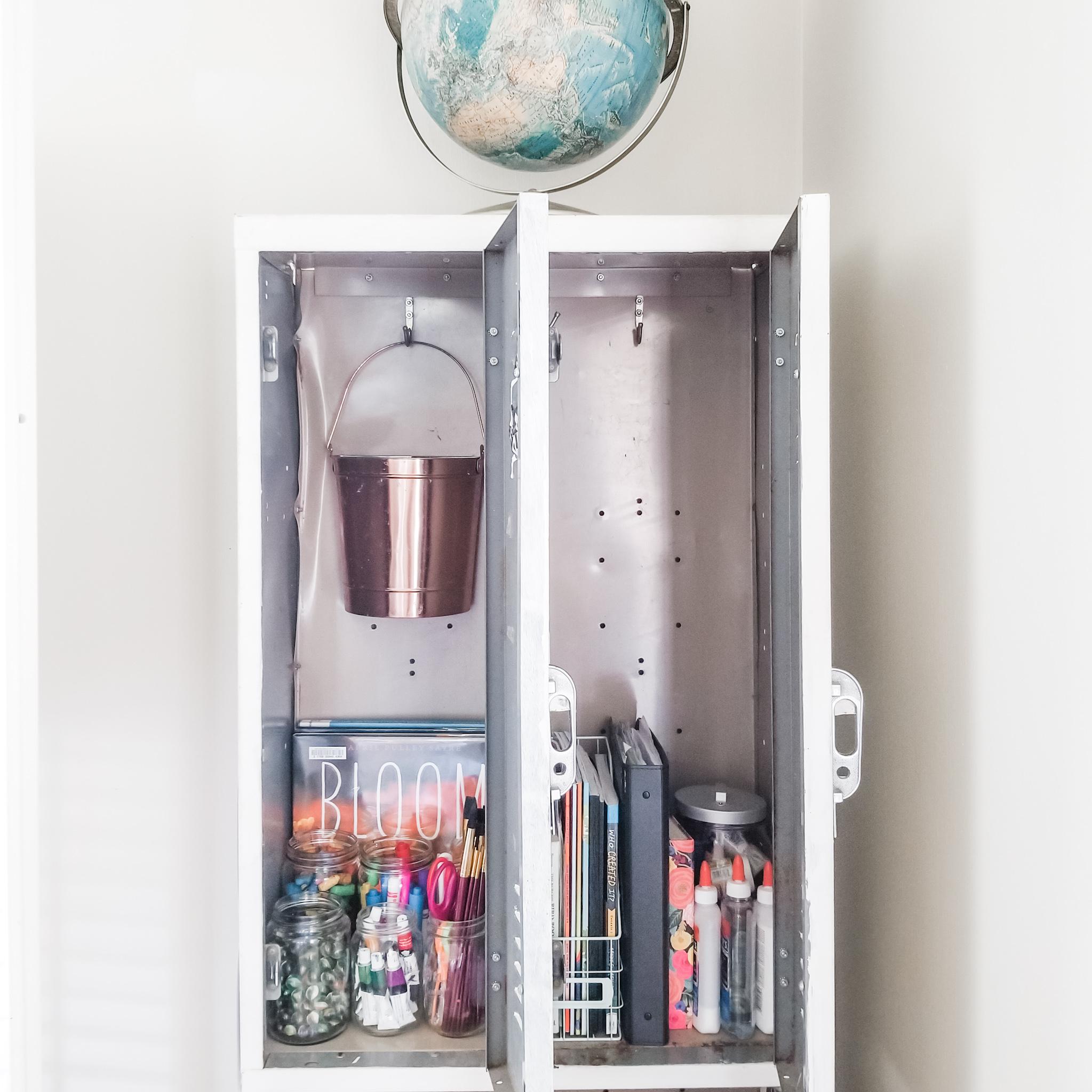 The Semi-Minimalist Homeschool lockers KonMari Method.jpeg