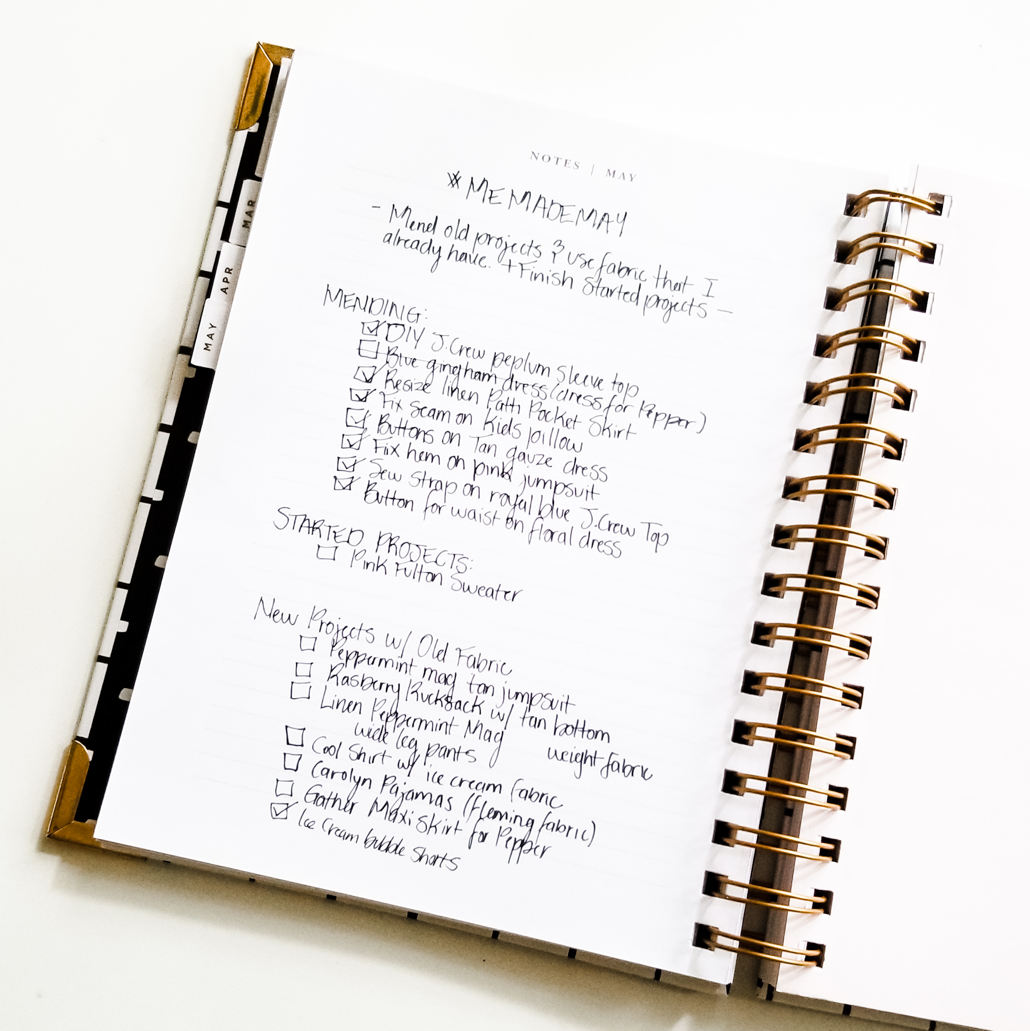 List of Goals for #Memademay2019