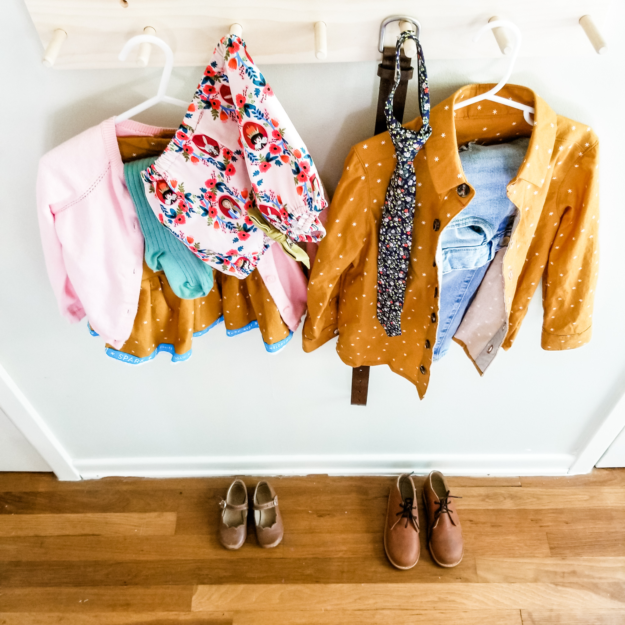 Tip: have your kids pick out their outfit the night before. It really seems so simple and easy, and you might have heard this tip 10000 times before, but it really does make our mornings that much smoother and has fast become apart of our bedtime routine!