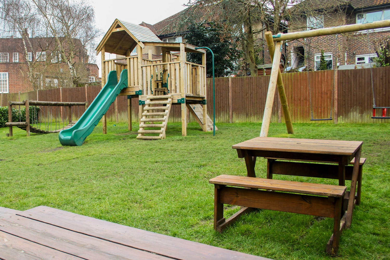 Children's outdoor play area at The Berrylands Family Pub Restaurant, Surbiton