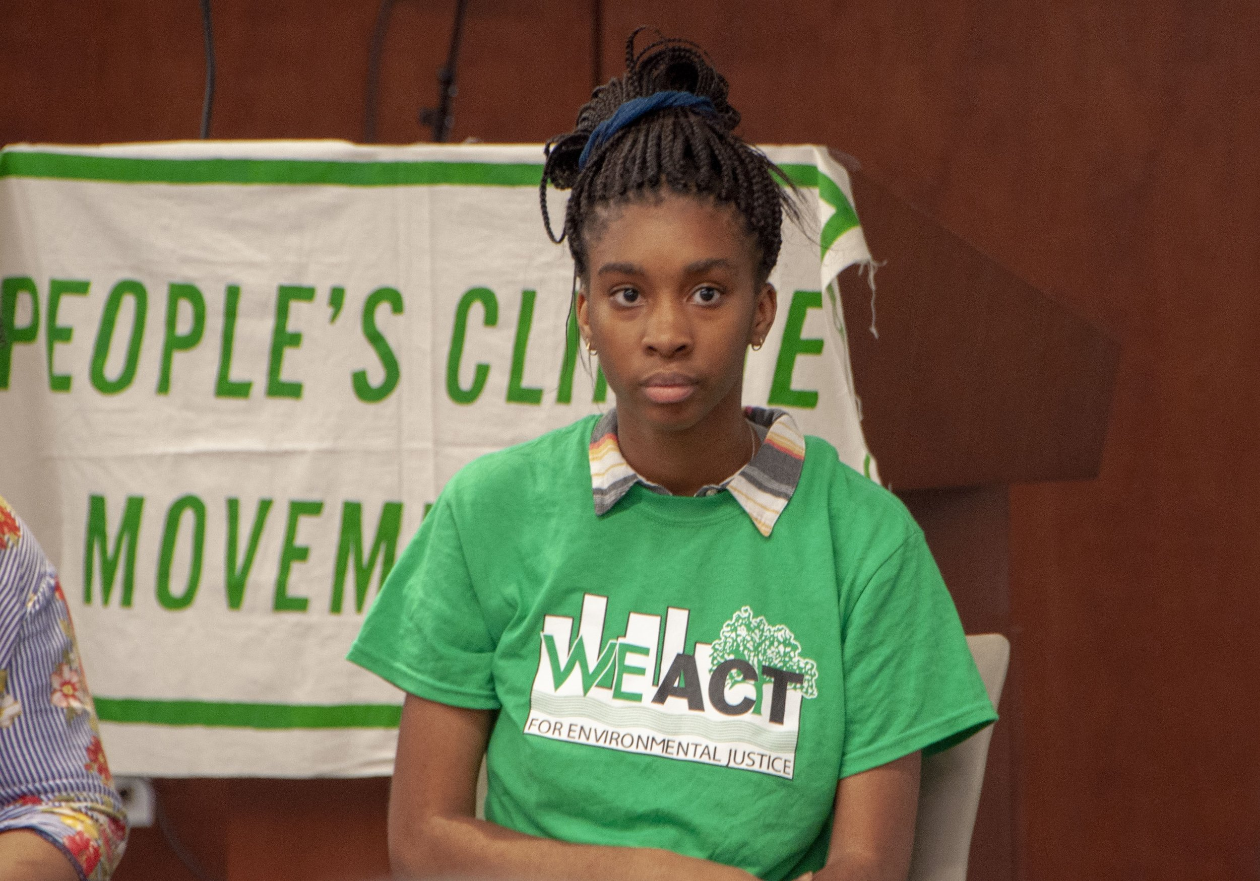 Langa Sibanda is a 17 year-old high school student from Harlem who is serving as an intern for WE ACT for Environmental Justice, a community-based nonprofit dedicated to ensuring that people of color and/or low-income participate meaningfully in the creation of sound and fair environmental health and protection policies and practices. These are the remarks she shared with the more than 100 people attending the first #RiseNY citywide planning meeting on July 23, 2018.