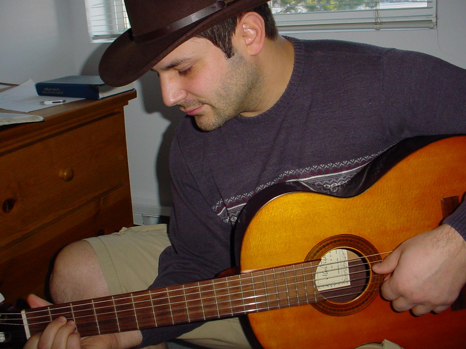 My first guitar, Jerusalem, Israel 2004