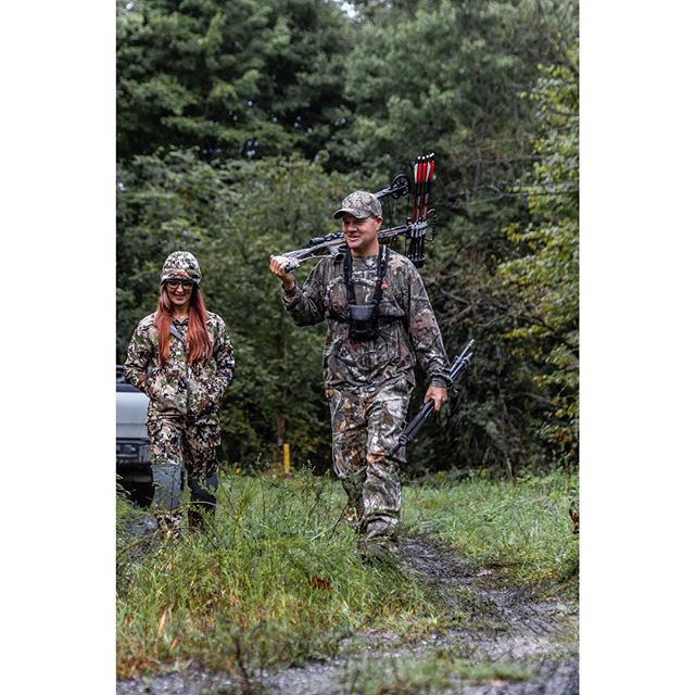 Very impressive to see @fitmom2boyz take up hunting for the first time this September.  And equally impressive for @ctoddtackett to support her and encourage her along the way.  We can't help but think that a family hunting together will improve hunting- and the family.  #husbandandwife #strongfamily #inspiredwild #jointheadventure  @mtnops @montanadecoy @sitkagear
