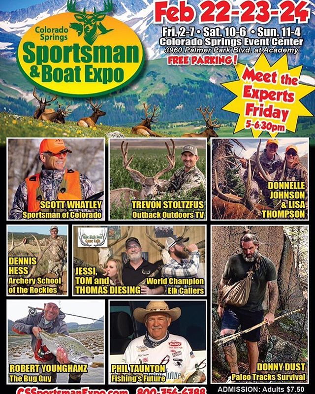 If you are around Colorado Springs, CO this weekend, join @trevonstoltzfus at the Colorado Springs Sportsman Show... #Repost @trevonstoltzfus ・・・ I hope those outdoorsmen and women in the Colorado Springs area will come hang out with us this weekend at the #sportsmanandboatexpo ... see ya there! #inspiredwild #jointheadventure