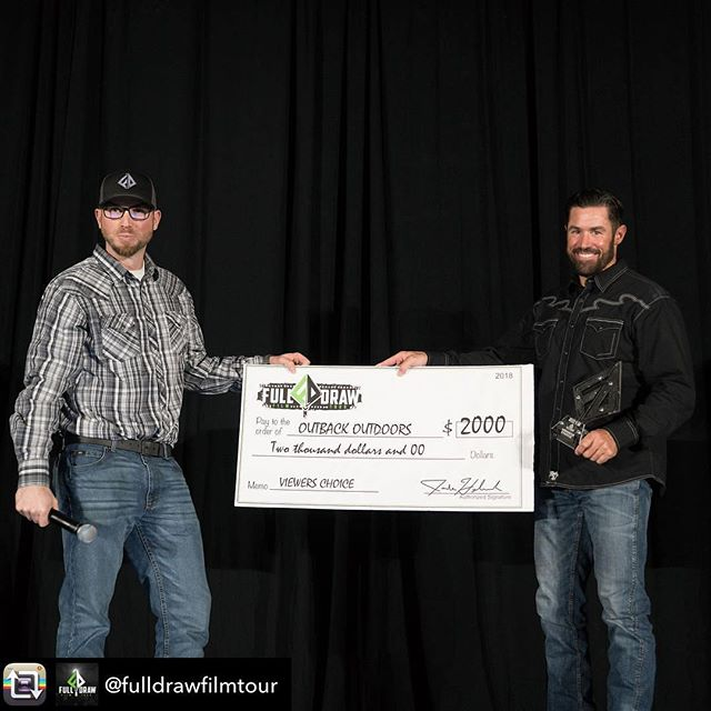 Repost from @fulldrawfilmtour using @RepostRegramApp - 2018 was a great year!! All the filmmakers brought their A game and really took the show to another level! The fans have spoken and voted '2 Close 4 Comfort 2.0' from @outbackoutdoors for the Viewers Choice award it was a close race all year but in the end the film that got the most laughs came out ahead. So glad we could share it with everyone. If you missed it live check out our on demand page follow link in bio.. #fdft2k18 #viewerschoice #fulldrawfilmtour