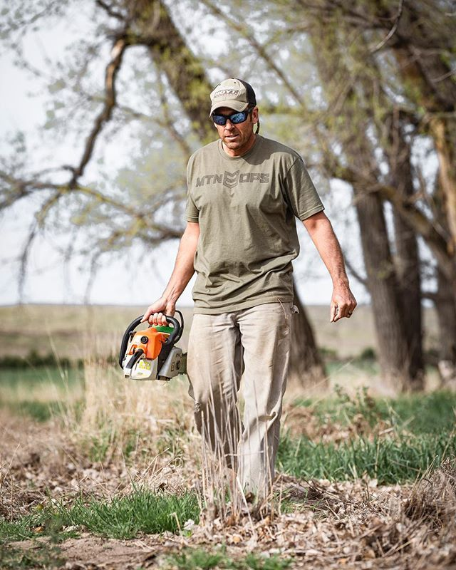 It's almost time to start the spring work projects... what do you have planned? #inspiredwild #jointheadventure #killerfoodplots #conquermore . . . @killerfoodplots @mtnops @oldtimer_knives @hooymansaws 📷 by @garrett_drach