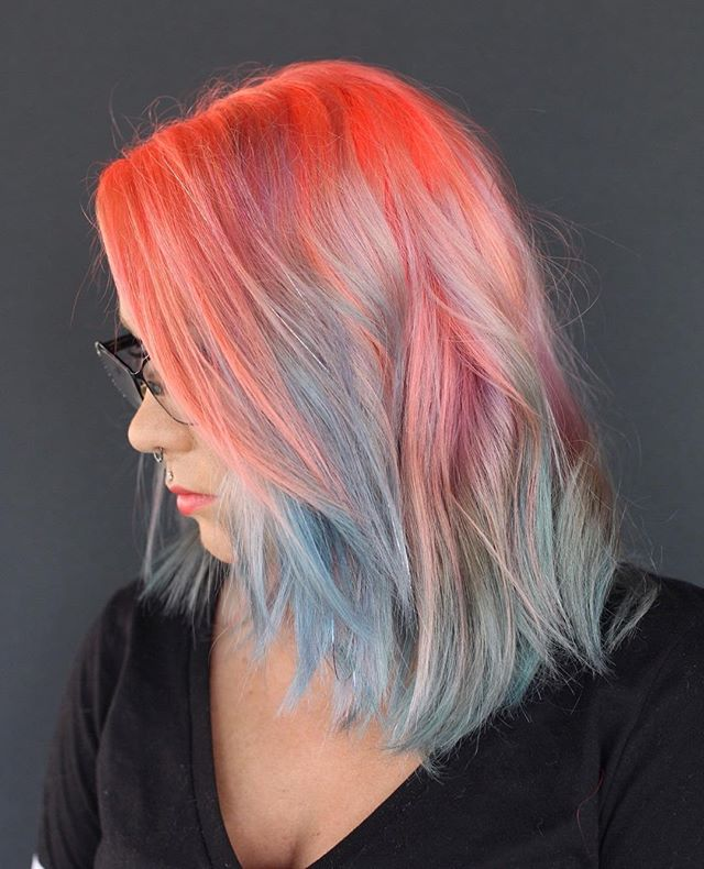 Summer is coming..⠀ Color by McKayla . . #carmelsalon #indygrammers #carmelindiana #indystylists #societyofbeauty #youhavecoolhair #societyofbeauty #indyblogger #westfieldindiana #indy #modernsalon #pulpriot #pulpriothair #neonhair #colorfulhair #brighthair #livedinhair