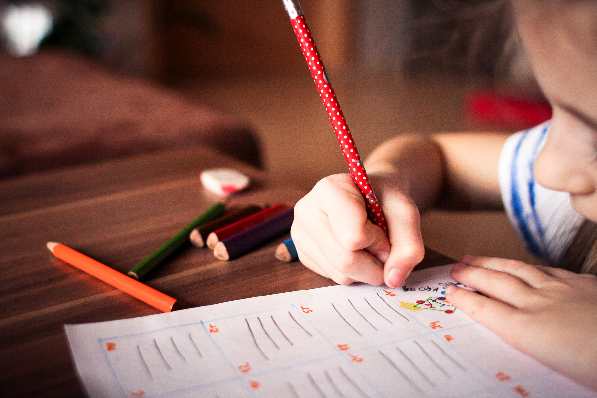 Child Working on Homework in the New School Year