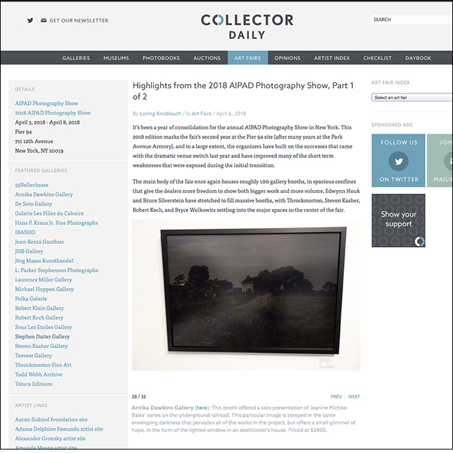 COLLECTOR DAILY   by Loring Knoblauch April 6, 2018