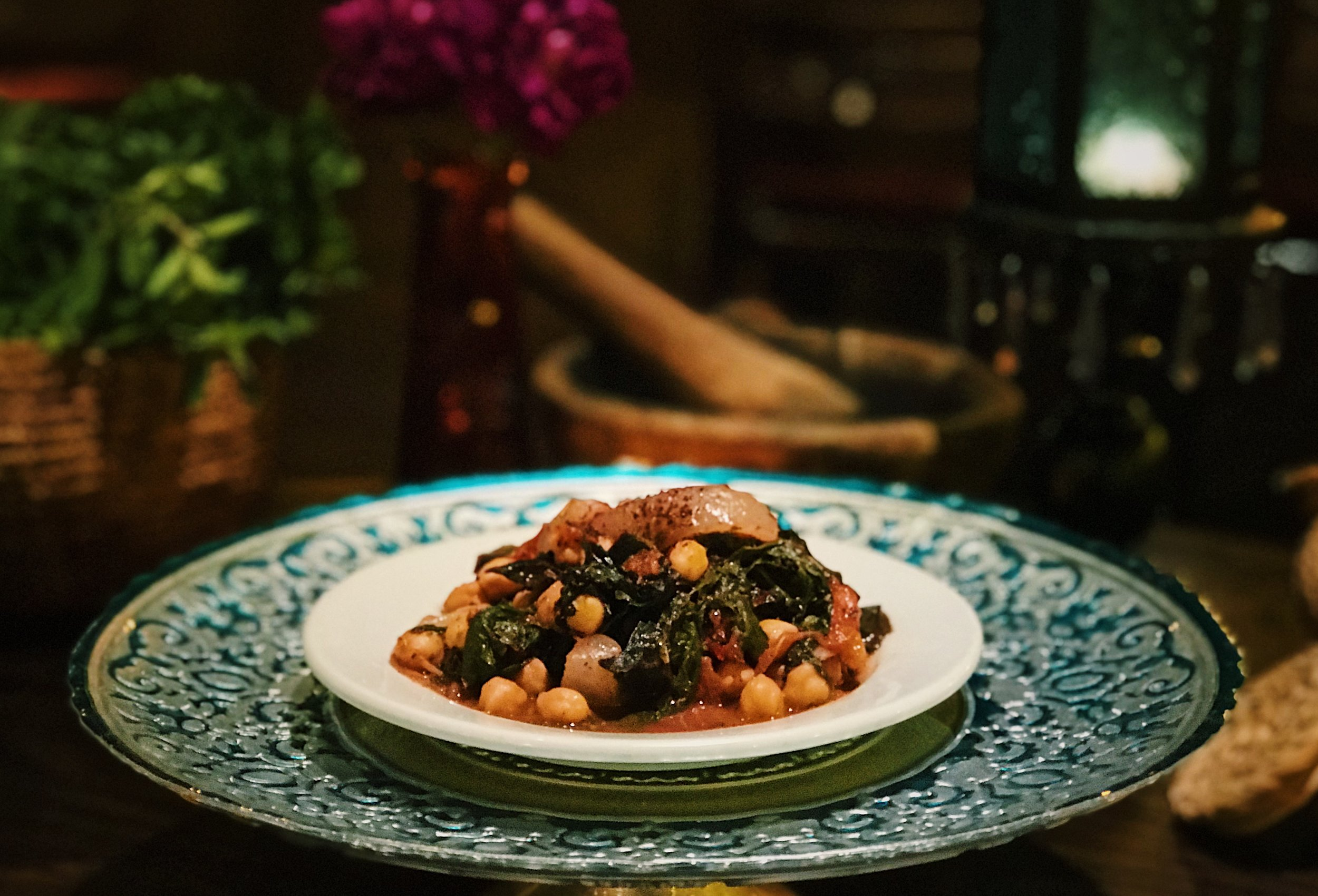Swiss Chard & Chick Pea Salad