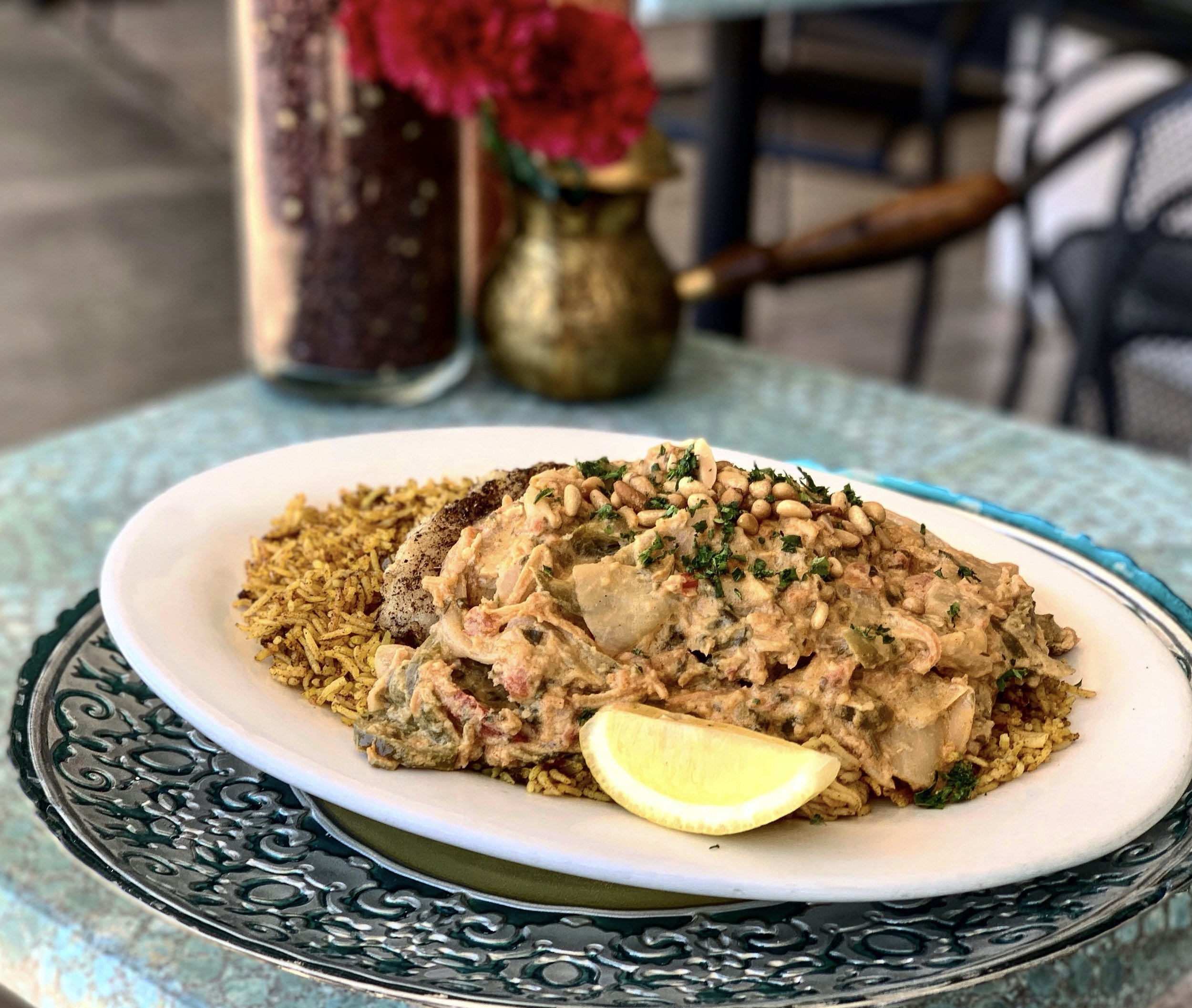 Grouper with Spicy Tahini sauce