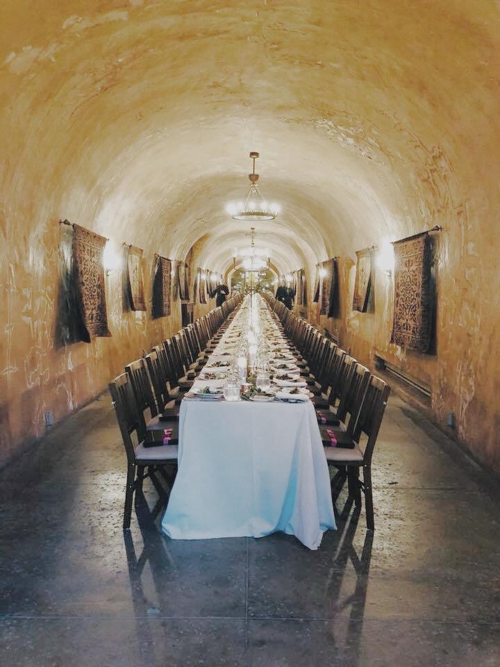 LimeLife family dinner in Benzinger Cave. Stunning.