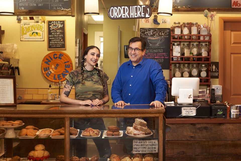 While Cedar Ridge Cafe & Bakery started in 2013, its story began a few years before, with a little place called The Cupcake Corral.The Cupcake Corral was the brainchild of the late, self taught baker, Joe Ramaikas, opened in 2010. Serving up cupcakes, named after all your favorite country western performers, cakes, our famous scones, biscotti and so much more. Fast forward three years and add Le Cordon Bleu trained chef, Paul Holtzman to the mix and now you have CRCB!    Joe and Paul collaborated to open Cedar Ridge. With Joe's homestyle baked goods and Paul's breakfast and lunch creations, CRCB was on its way to becoming a town staple!    Sadly, Joe passed away the summer of 2016. He may be gone, but he is certainly ever present in the daily ongoings at The Ridge. His recipes still fill the case, but not without the help of head baker/manager, Michelle Mancuso!    Michelle came to Cupcake Corral in 2012 right before the transition into Cedar Ridge, bringing with her a variety of vegan recipes, both baked goods and savory meals!    Here, in 2018, Michelle and Paul collaborate daily on breakfast and lunch items, both of the vegetarian and vegan variety, creating something for everyone to enjoy! We also became certified kosher in September of 2018!    Cedar Ridge Cafe & Bakery is a cafe and a community space, striving to bring the folks and of Maplewood and South Orange closer together, with the help of delicious food!