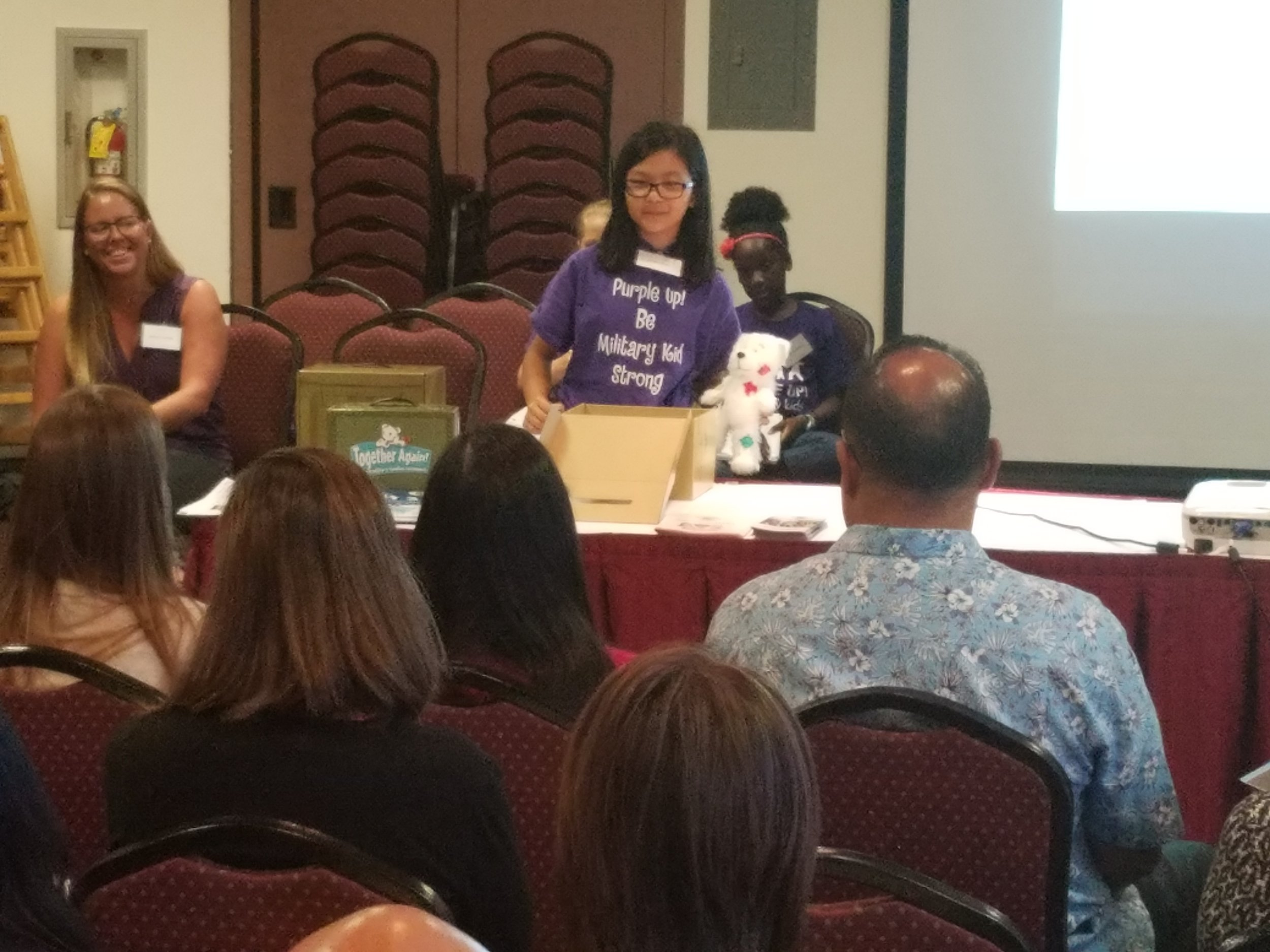Students from Pearl Harbor Kai Elementary School talked about the Anchored4Life program.