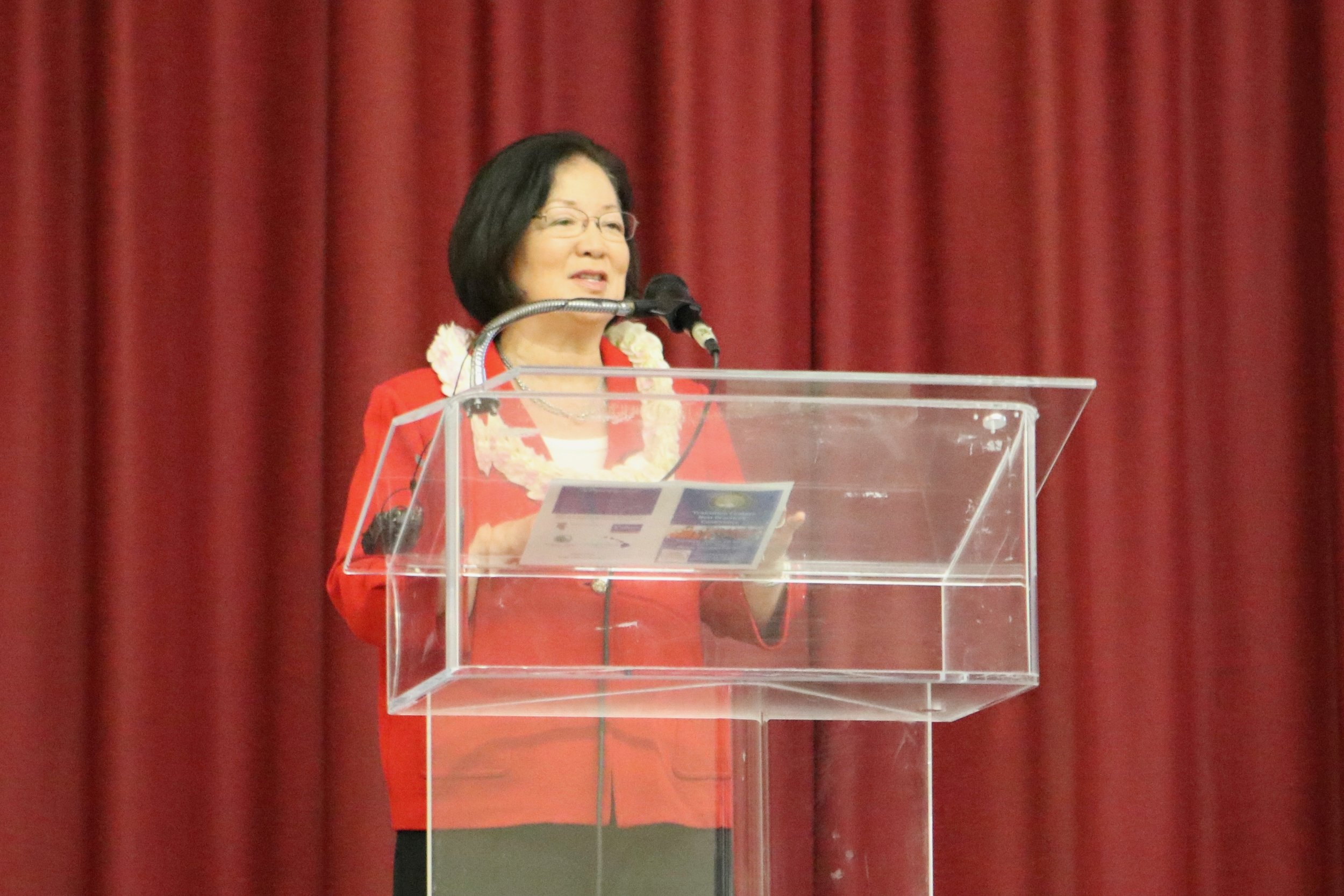The conference kicked off with opening remarks from United States Senator Mazie Hirono.