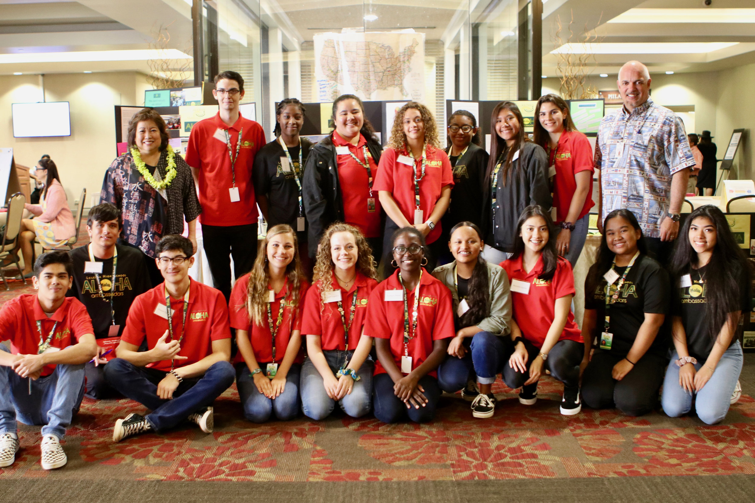 Leilehua Aloha Ambassadors returned to the conference this year to answer participant questions at their resource tables.