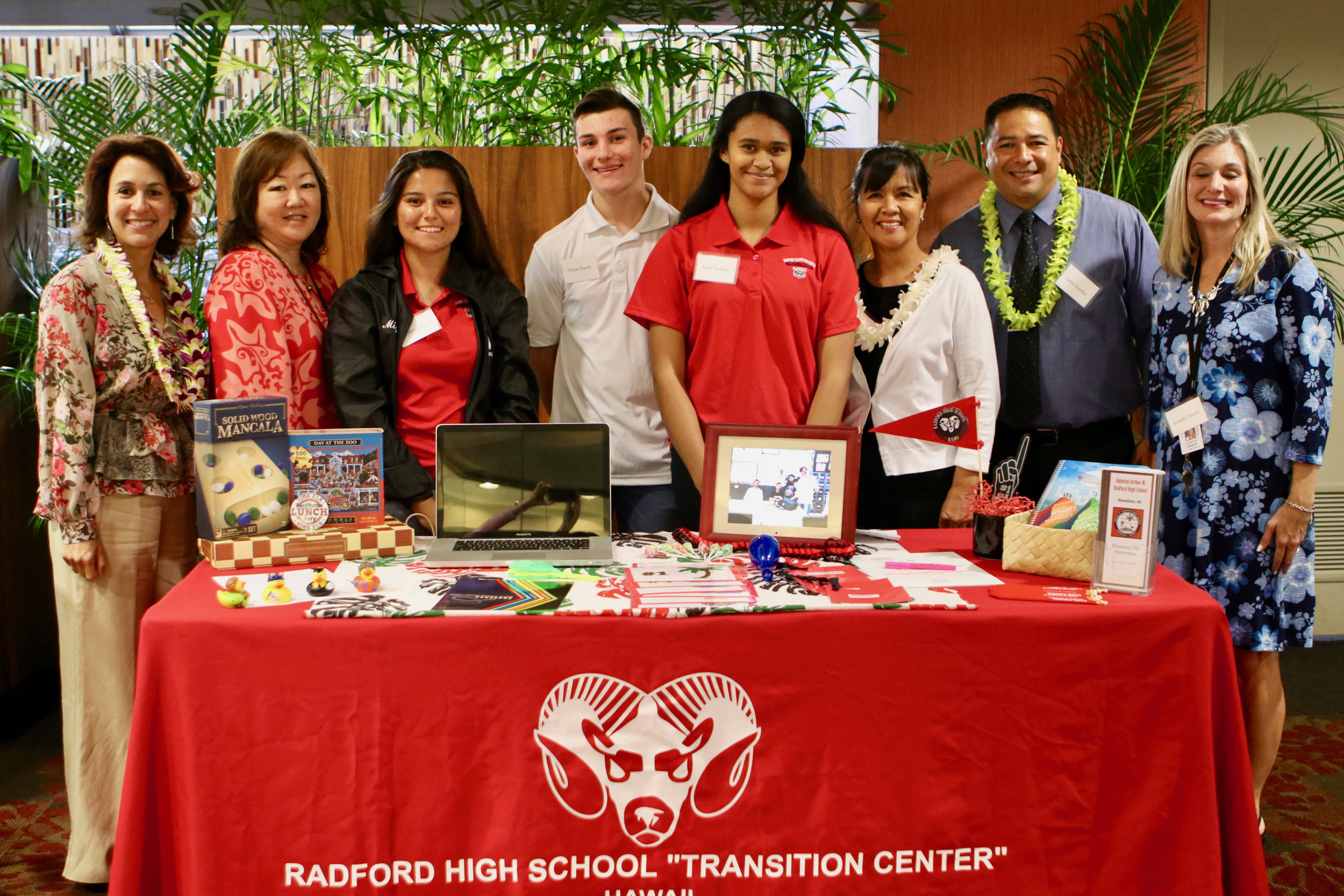 Radford High School returned to the conference this year with lots of resources at their resource table.