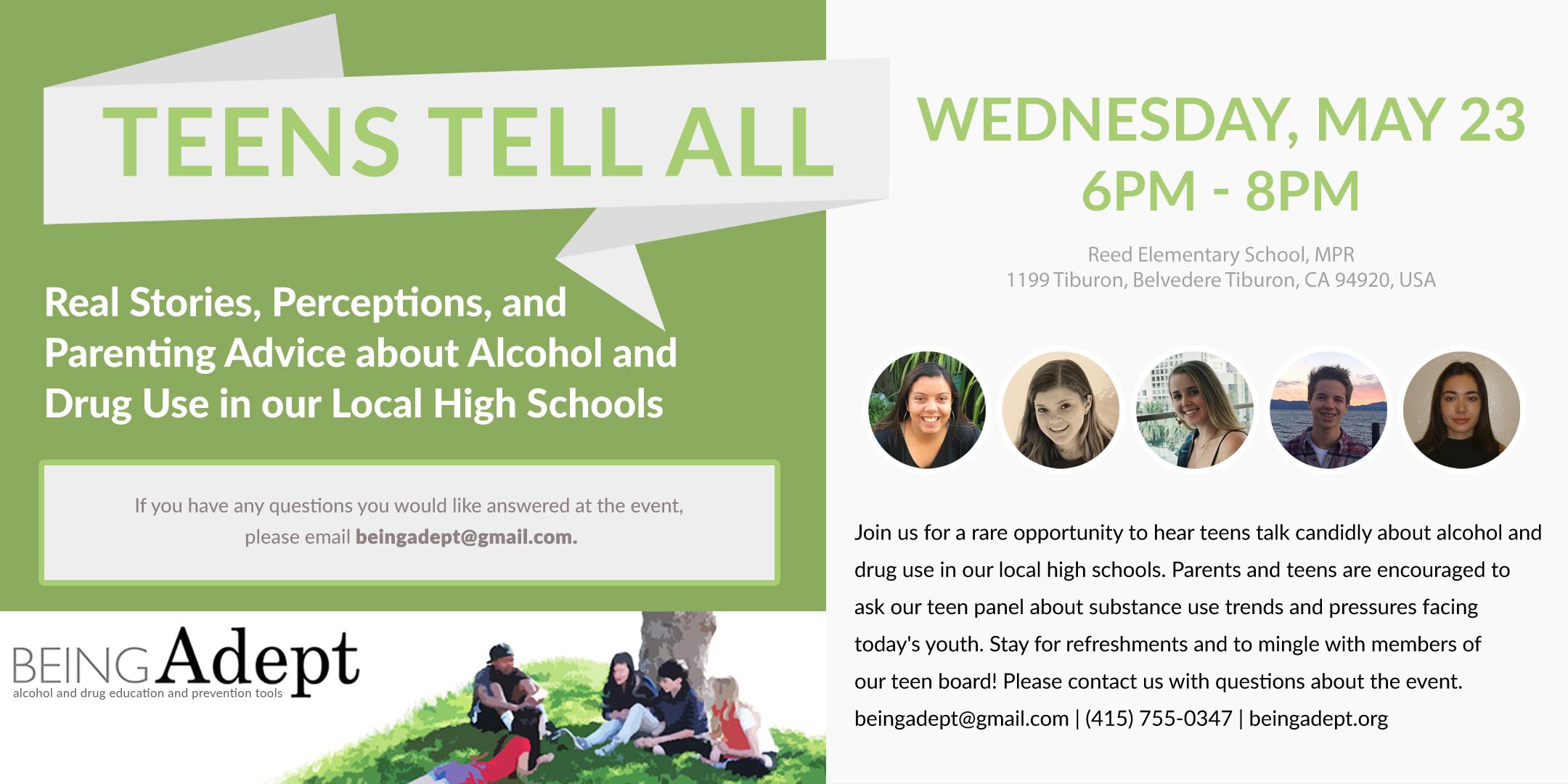 Teens Tell All EventBrite Flyer