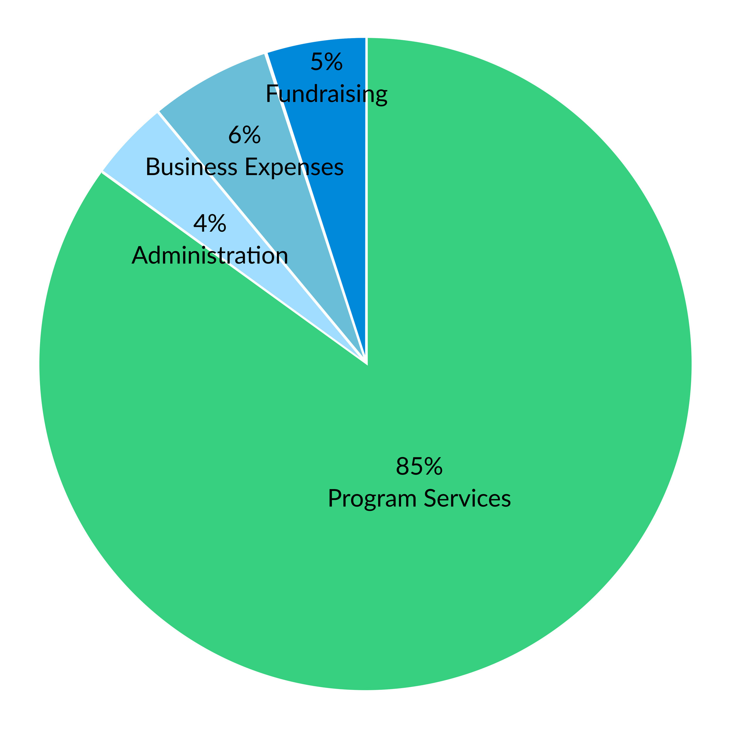How funds are allocated pie chart