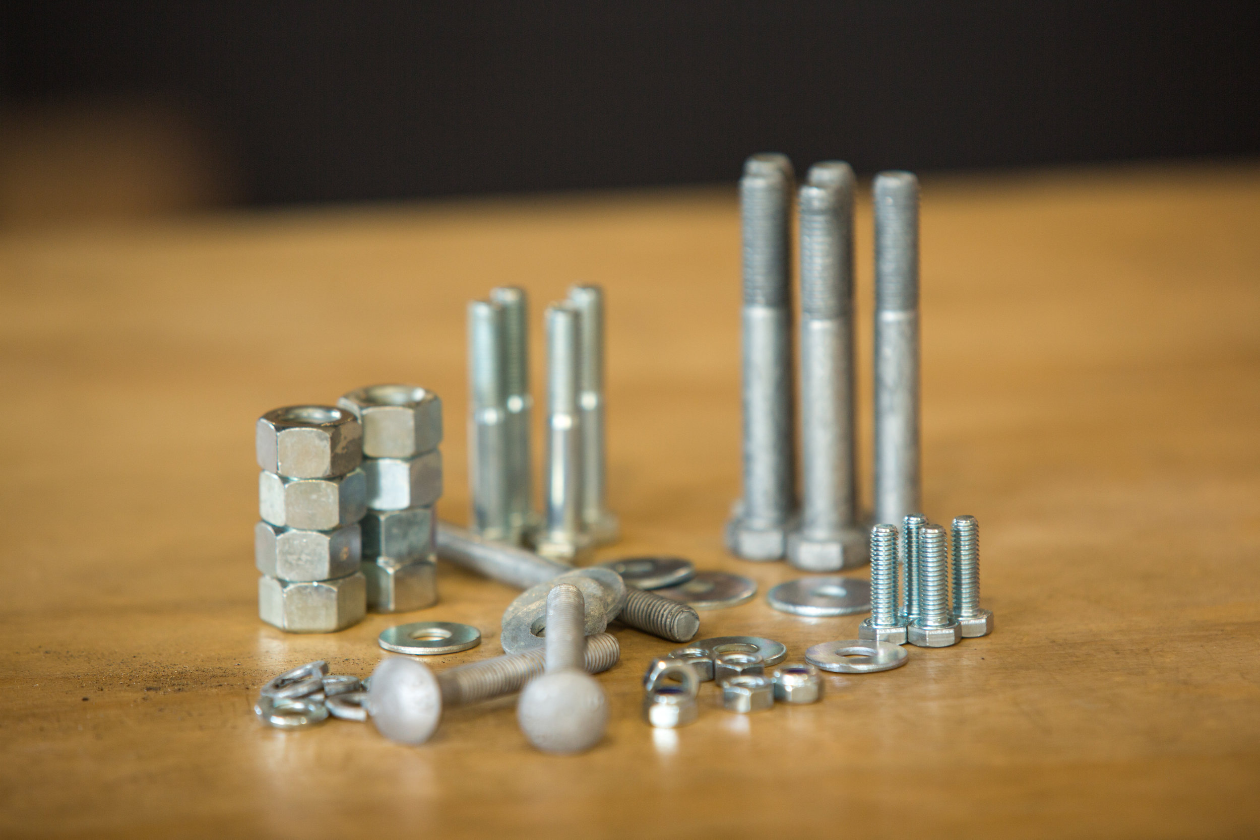 Fasteners - We have a variety of fasteners in store and in stock.