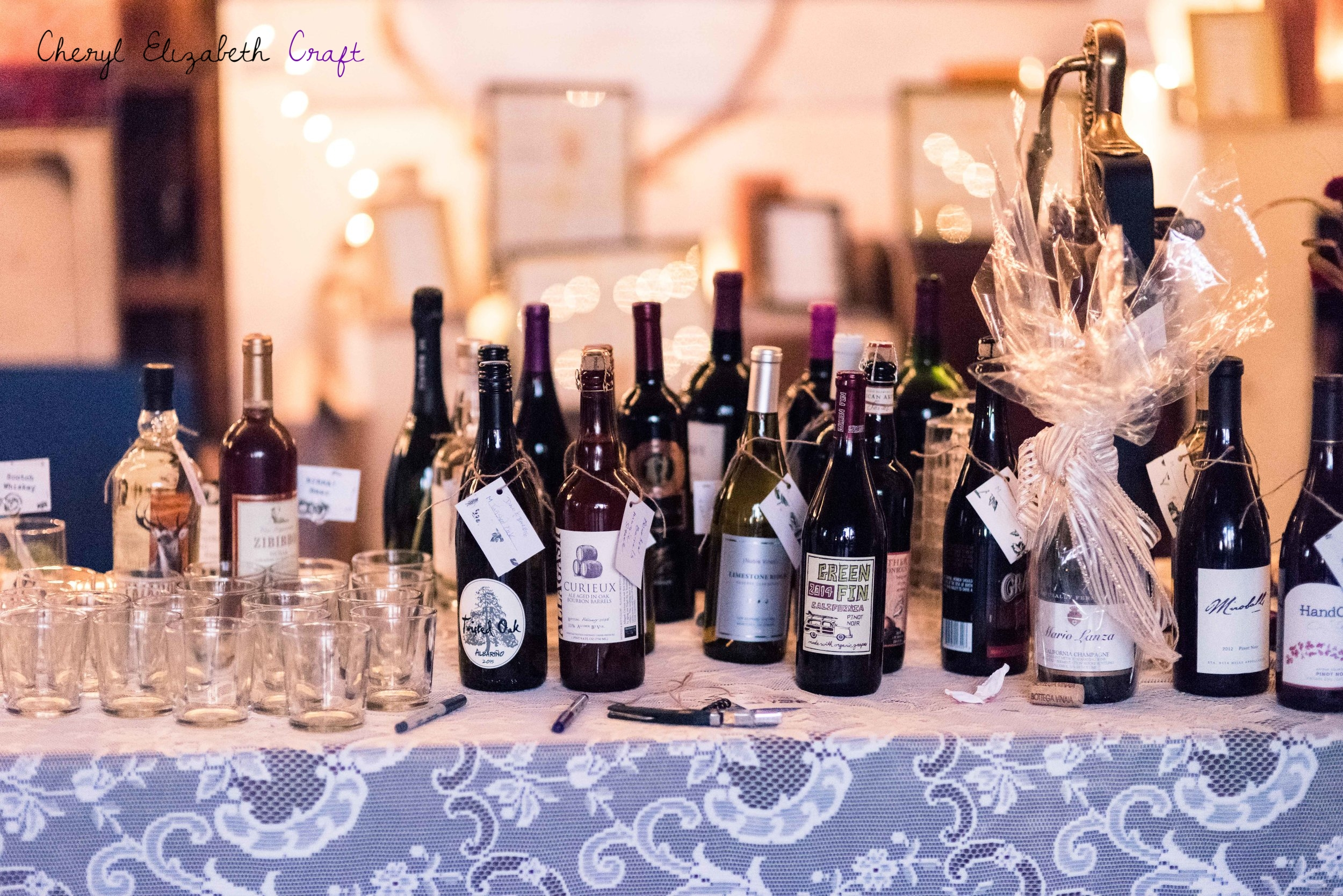 Wedding BYOW Wine Table