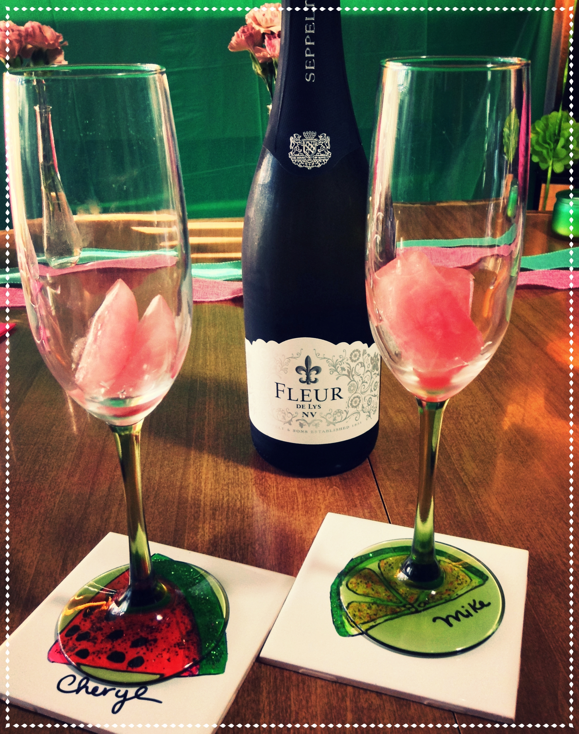 Champagne on Watermelon Ice - Watermelon & Lime blog!