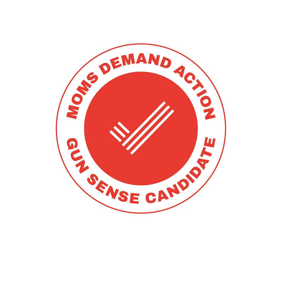 I am proud to have received Candidate Distinction from Moms Demand Action for supporting common-sense gun safety legislation.
