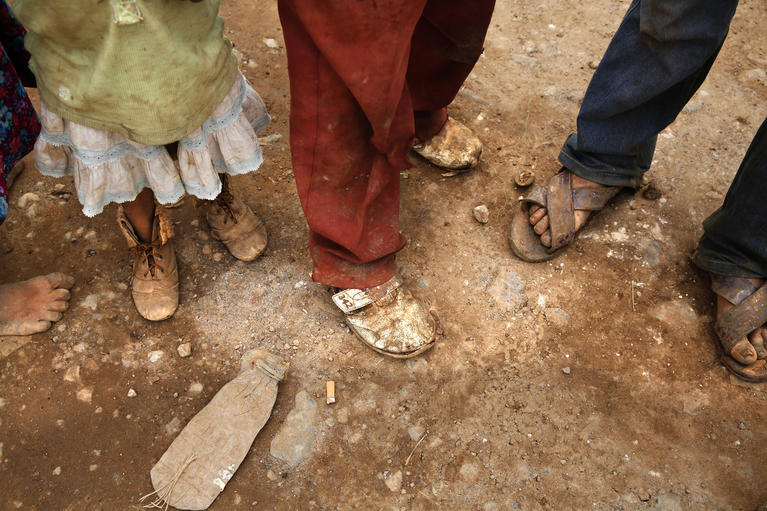 Image Credit: Los Angeles Times, A family of indigenous farm workers make so little they can't afford sturdy shoes