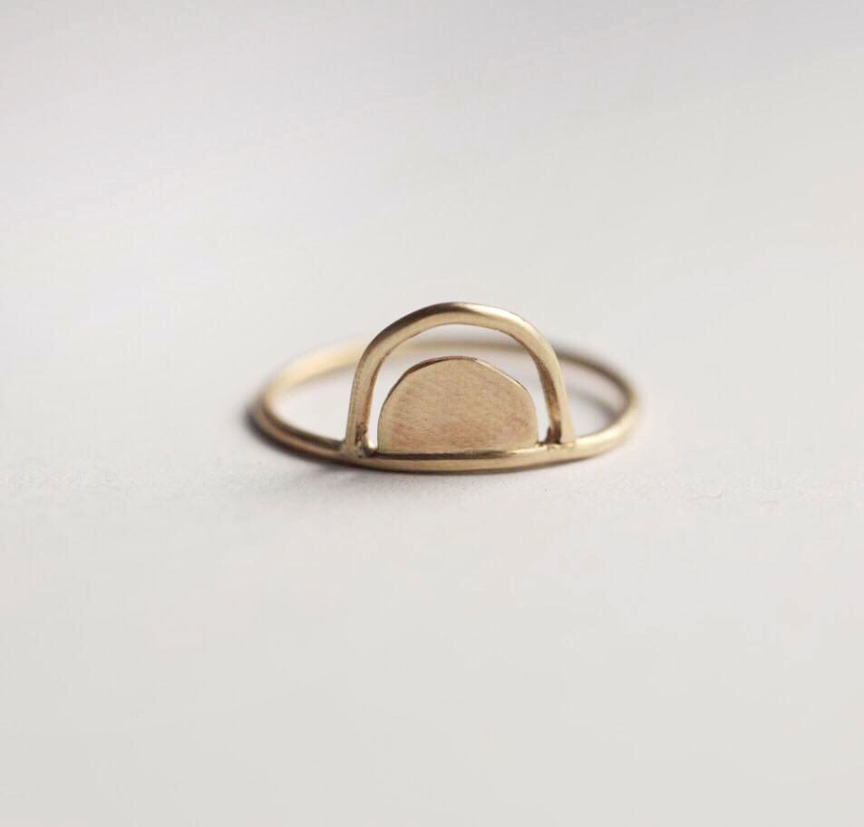 Double Arch Ring in Gold