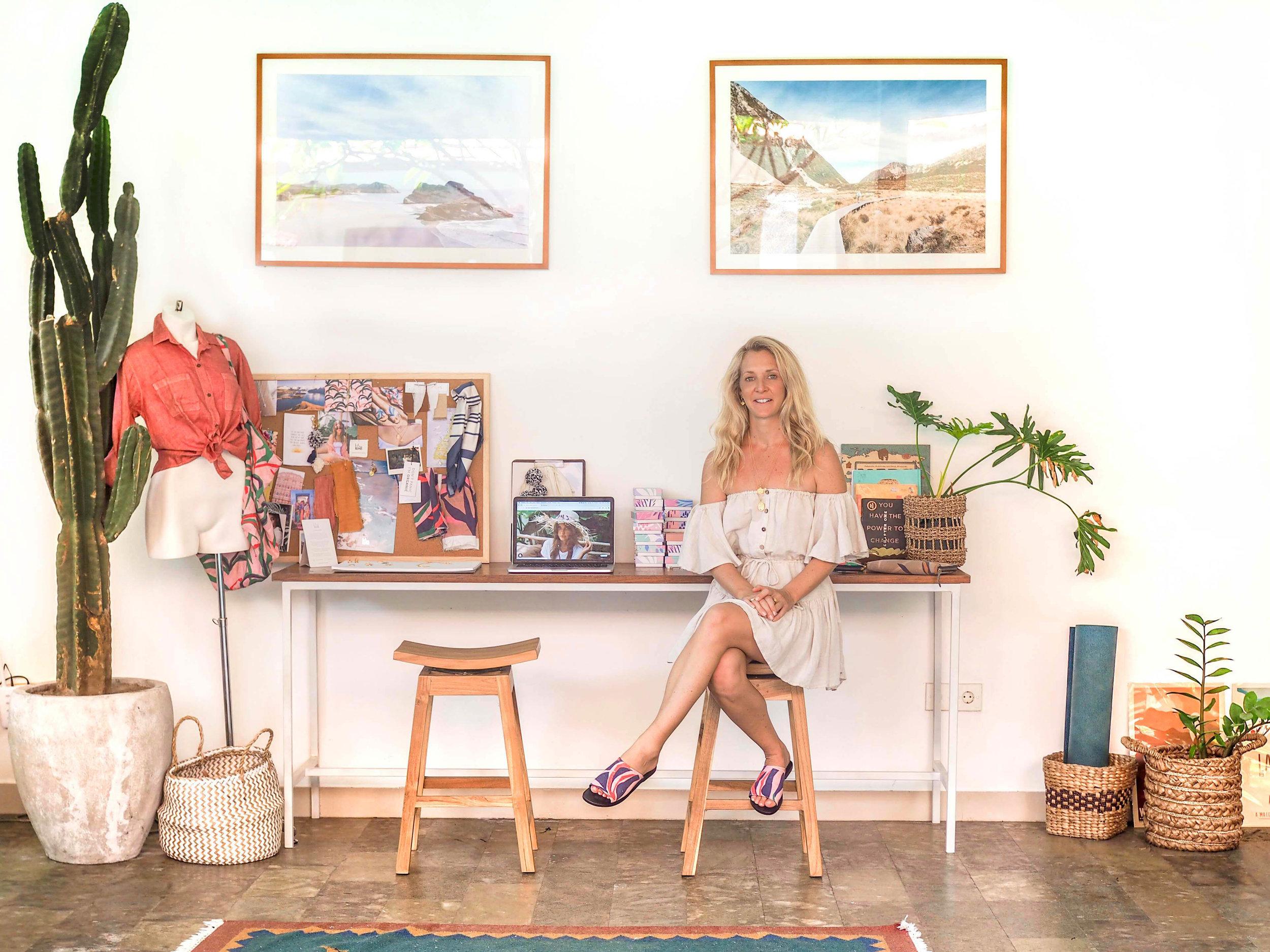 Rosie Shelton in her Bali studio | PC: La Luna Rose
